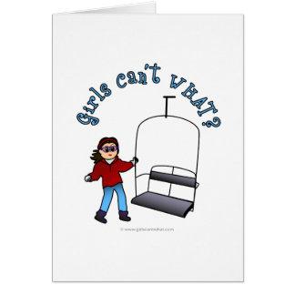 Ski Liftie Girl Cards