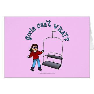 Ski Liftie Girl Card