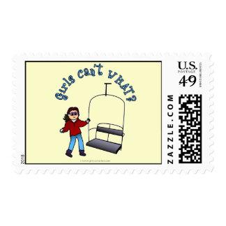 Ski Liftie Girl Stamp
