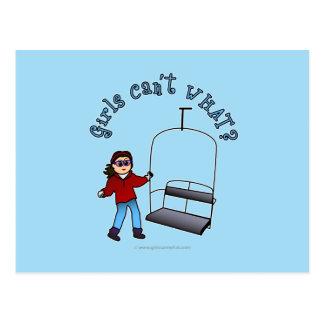 Ski Liftie Girl Post Cards