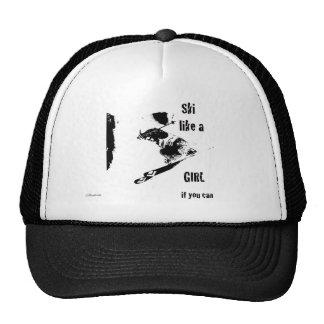 ski like a girl trucker hat