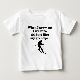 Ski Like My Grandpa Baby T-Shirt