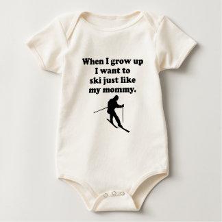 Ski Like My Mommy Baby Bodysuit