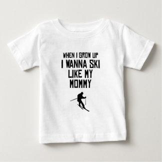 Ski Like My Mommy Baby T-Shirt