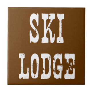 Ski Lodge Ceramic Tile