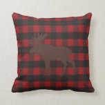 """Ski Lodge Moose Plaid Holiday Party Decor Throw Pillow<br><div class=""""desc"""">You will love this whimsical pillow to accent your home décor.  Makes a wonderful gift,  it will be a lovely keepsake for years to come.  Just another special way to make your party special,  look for other ideas all part of the Moose Ski Lodge collection.</div>"""