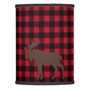 Christmas holiday lamp shades zazzle ski lodge moose plaid holidays party lamp shade aloadofball Choice Image
