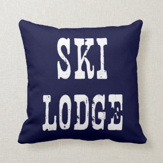Ski Lodge Navy Pillow