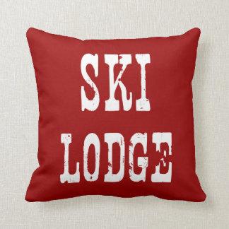 Ski Lodge Red Pillow