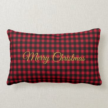 Bride Themed Ski Lodge Red Plaid Holiday Party Throw Pillow