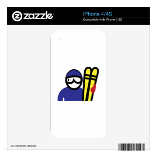 Ski Man Skins For The iPhone 4S