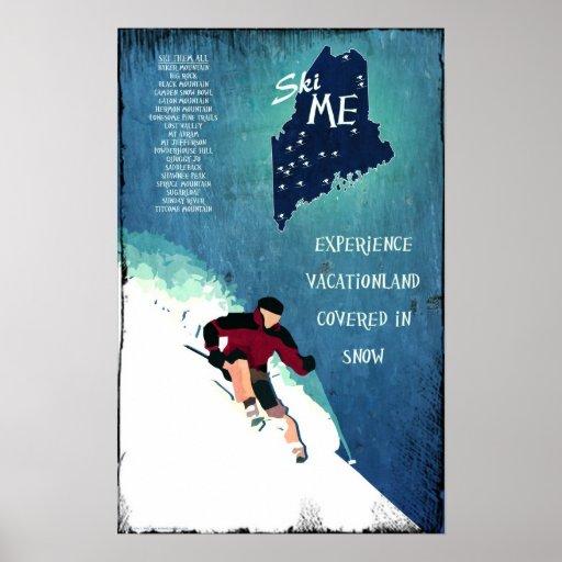 Ski ME Vintage-look Poster