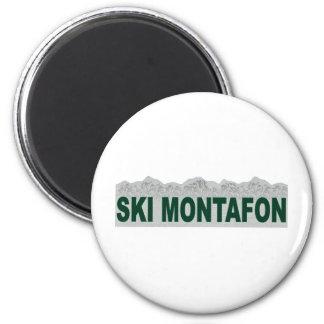 Ski Montafon 2 Inch Round Magnet