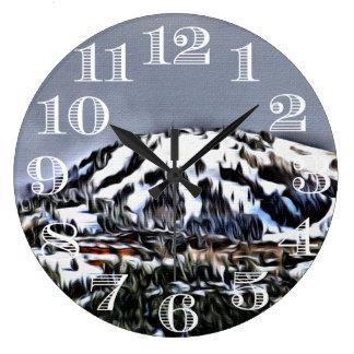 Ski Mountain Clock