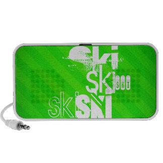 Ski; Neon Green Stripes iPod Speakers