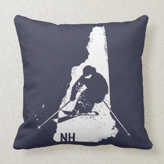 Ski New Hampshire Throw Pillow