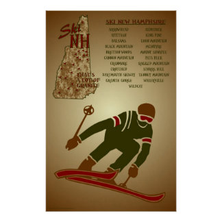 Ski NH Poster