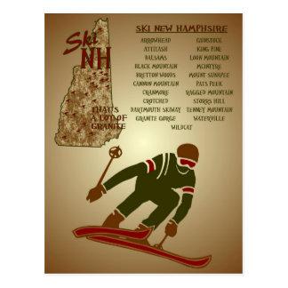 Ski NH Poster Postcard