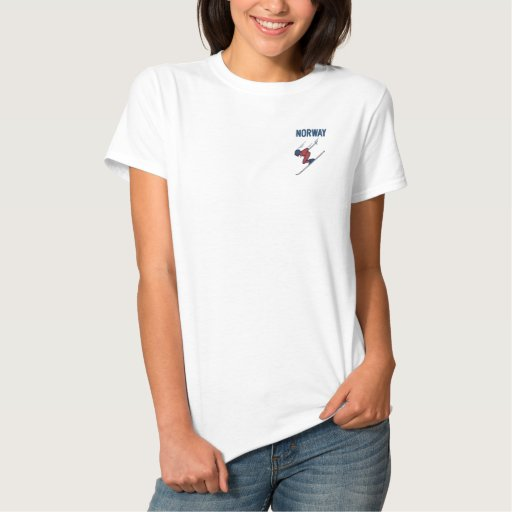 Ski Norway Customize Sports Embroidered Shirt