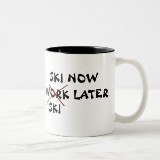 Ski Now Ski Later Two-Tone Coffee Mug