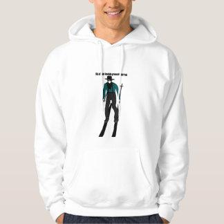 Ski on the best biggest mountain hoodie