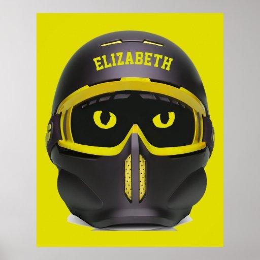 Ski Or Snowboard Helmet Poster