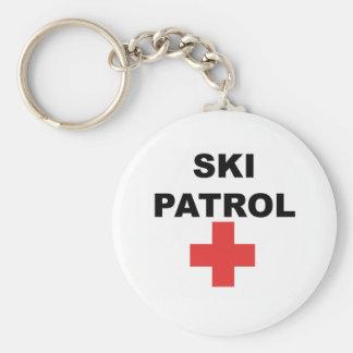 Ski Patrol Basic Round Button Keychain