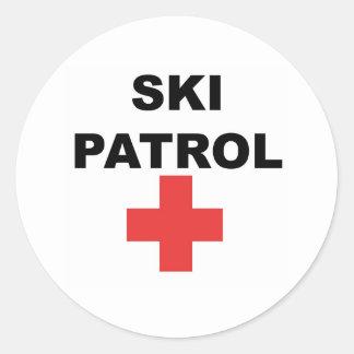 Ski Patrol Classic Round Sticker