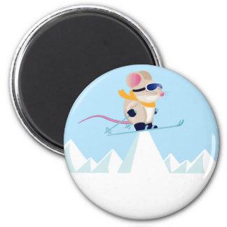 Ski Patrol Mouse in the Alps Magnet
