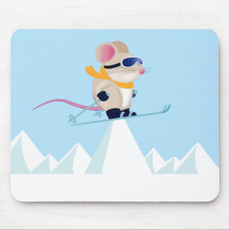 Ski Patrol Mouse in the Alps Mouse Pad
