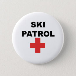 Ski Patrol Pinback Button