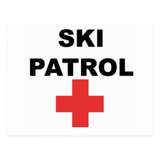 Ski Patrol Postcard