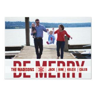 'Ski Patrol' (Scarlet) Holiday Photo Card