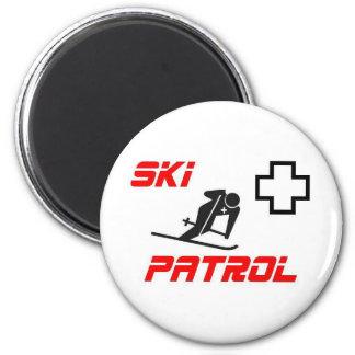 "Ski Patrol - ""Skier"" Refrigerator Magnet"