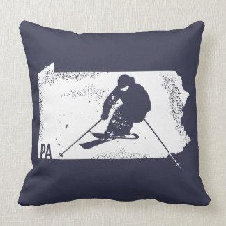 Ski Pennsylvania Throw Pillow