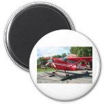 Ski plane, Talkeetna, Alaska, USA 2 Inch Round Magnet