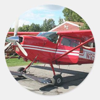 Ski plane, Talkeetna, Alaska, USA Classic Round Sticker