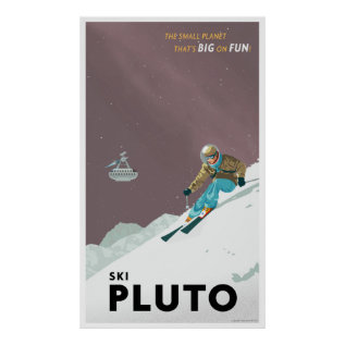 Ski Pluto - Large Format Poster at Zazzle