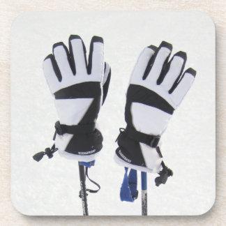 Ski Poles and Gloves Cork Coasters