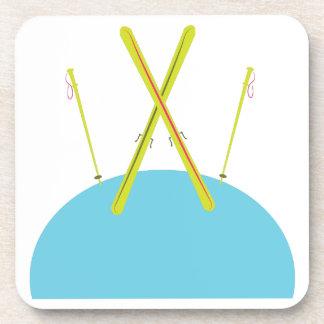 Ski Poles Drink Coasters