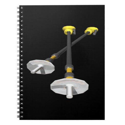 Ski Poles Spiral Note Book