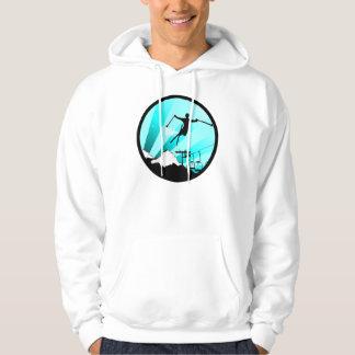 ski powder trail hoodie