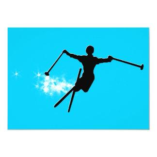 ski : powder trail 4.5x6.25 paper invitation card