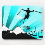 ski powder trail mousepad