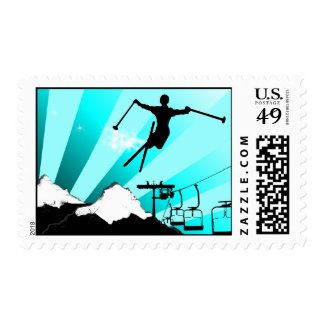ski powder trail postage