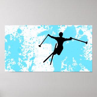 ski powder trail poster