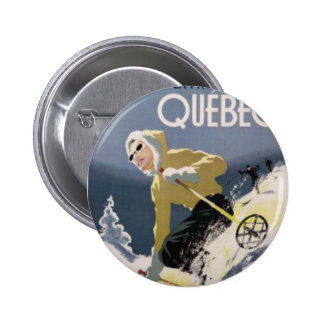 Ski Quebec Pinback Button