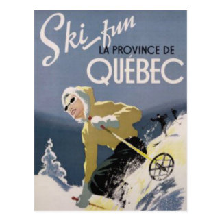 Ski Quebec Postcard