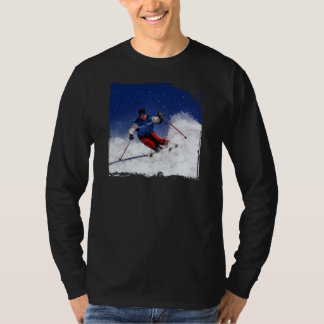 Ski Racing Down the Mountain T-Shirt