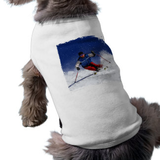 Ski Racing Down the Mountain Tee